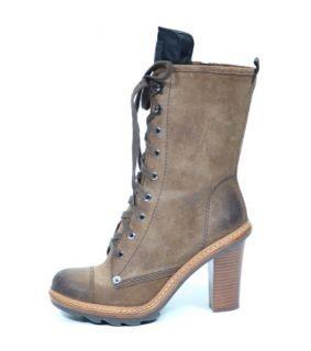 Prada Brown Suede Worker Boots Shoes UK 3 5 US 6 5 EU 36 6 BNWT Box