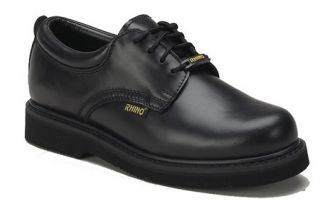 Rhino 40C01 Mens Cushioned Leather Oxford Shoe Black