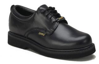 Rhino 40C01 Mens Cushioned Leather Oxford Shoe Black