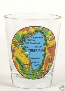 Christian Jesus Galilee Lake Map Shot Glass Holy Land Souvenir