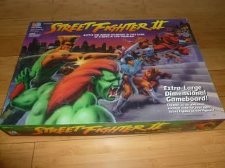 Street Fighter II Complete Board Game Milton Bradley Capcom