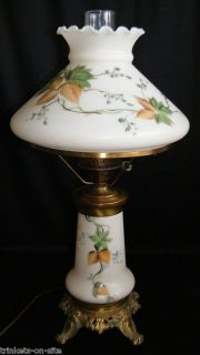 Vintage Electric Hurricane Lamp Light Hand Painted