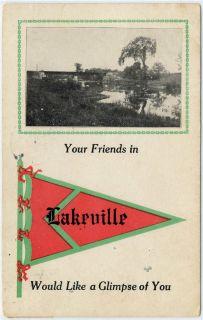 1913 Lakeville New Jersey NJ Vintage Pre Linen Postcard