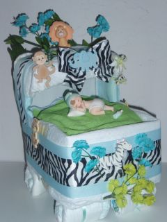 Bassinet Baby Shower Centerpiece Gift Girl or Boy Diaper Cake