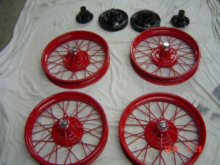 1926 27 Model T Ford Wire Wheels and Hubs