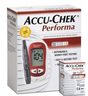 Performa Blood Glucose Monitor 10 Test Strips Softclix Lancing Device