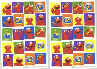 Sheets Sesame Street Elmos World Dorothy Goldfish Stickers