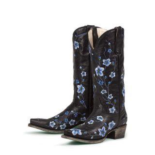 Lane Boots Womens Black Blue Sakura Cowboy Boots