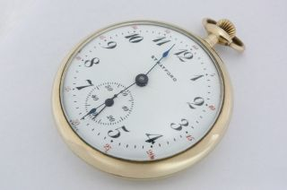 Vintage STRATFORD LANGENDORF Supreme POCKET WATCH OPEN FACE 43.5mm