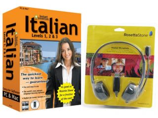 NEW Language Software Instant Immersion Italian AND Rosetta Stone USB