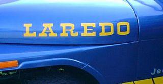 Laredo Jeep Wrangler Rubicon CJ TJ YK JK XJ Vinyl Sticker Decal