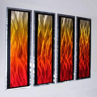 Modern Abstract Metal Wall Art Painting Sculpture Home Decor Large Red