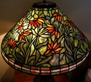 Reproduction Stained Glass Black Eyed Susan Lamp Shade 20W