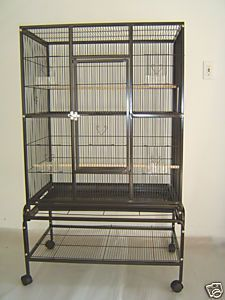 Large Bird Cage Flight Cage 32x20X53 Parrot Conure Cockatiel