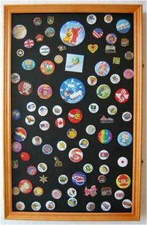 Large Lapel Pin Medal Buttons Patches Ribbon Display Case Shadow Box