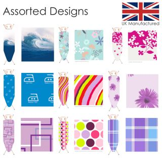 Large Drawstring Ironing Board Cover Assorted 130x46cm