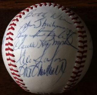 Expos Team Signed Autographed Baseball Mike Marshall Larry Doby