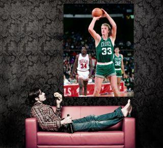 XD8582 Larry Bird Boston Celtics Legend NBA Basketball Huge Wall