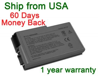 Laptop Battery 6 cell for Dell Latitude D500 D505 D510 D520 D530 D600