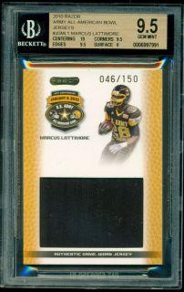 Marcus Lattimore 2010 Razor Leaf U s Army Jersey 150 BGS 9 5 South