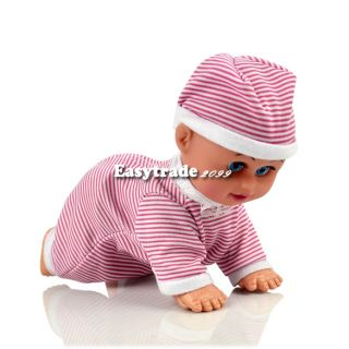 Pink Crawling Baby Doll Toy Baby Laugh Music Say Mama Daddy and Learn