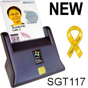 Stanley Global Sgt 117 DOD USB CAC Smart Card Reader