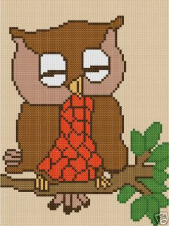 Owl 20x27 Latch Hook Kit