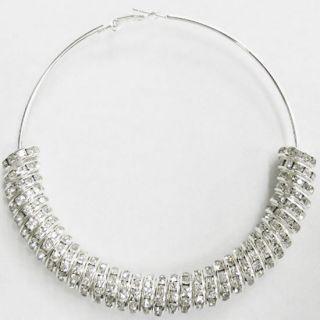 Basketball Wives Inspire Large Big Huge Silver Hoop Earrings