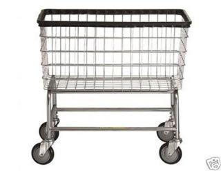 Large Capacity Laundry Cart on Wheels w Basket 4 5 BU