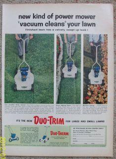 Duo Trim Lawn Mower Vacuum Action Cut Reversible Handle No Turn