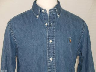 Ralph Lauren Classic Denim Shirt Polo Pony XL