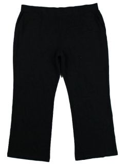 New Lauren by Ralph Lauren Womens Plus Size Black Corduroy Pants Sz 3X