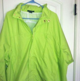 LAUREN by Ralph Lauren Bright Green Windbreaker jacket 2X Plus size
