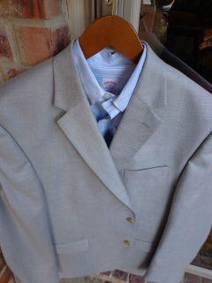 Chaps Ralph Lauren Gray Slim Fit Mens Blazer Suit Sport Coat Jacket