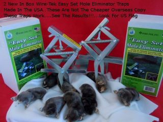 In Box Wire Tek Easy Set Mole Eliminator Traps Pest Control Lawn Care