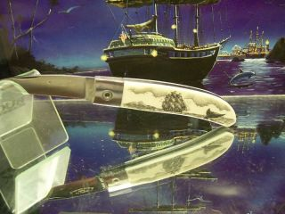 Lone Wolf Clipper SHIP Linda Layden Scrimed City Knife