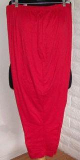 Plus Size Red LBW Lane Bryant Comfy Stretch Knit Pants 6XP Petite