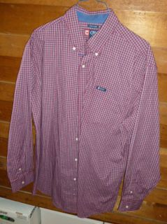 Chaps Ralph Laurens Mens Shirt Red White Black Size XLT