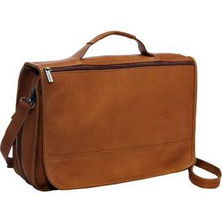 Le Donne Leather Expandable Premium VAQUETTA Leather Messenger Bag Tan