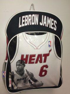 Lebron James Miami Heat New Jersey Design NBA Backpack 6 Champion