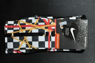Nike Elite Socks Lebron James Taxi Edition Large sizes 8 12 KD Jordan