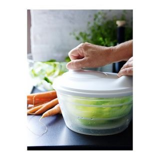 NIP IKEA Tokig Salad Spinner White 9x6 Priority Shipping Great for