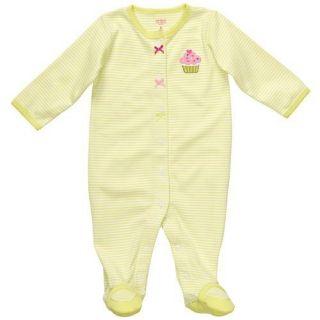 Carters Girls Cupcake One Piece Sleep Play Size 6 Months