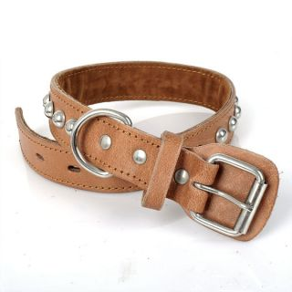 New Heavy Duty Leather Spiked Studded Dog Pet Collar