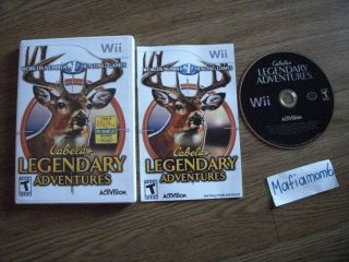Cabelas Legendary Adventures Nintendo Wii Game Complete Single Player