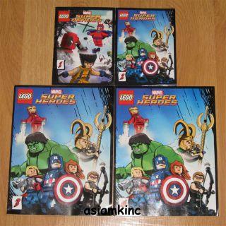 Lego Marvel Super Heroes x Men Avengers Comic Book 1 2 3 4