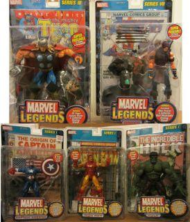 Marvel Legends Avengers Thor Hawkeye Hulk Iron Man Captain America