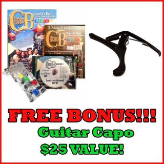 Chord Buddy Learn to Play Guitar   Guide, DVD, Aid + FREE Guitar Capo