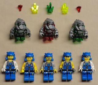 Lego Power Miners Rock Monster Minifig Guys Men Lot