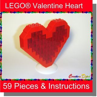 Build Your Own Lego® Valentines Day Heart 59 Pieces